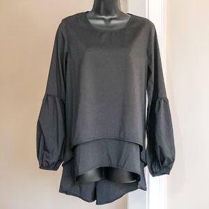 3/$35 ZANZEA sz S black NWT top long sleeves